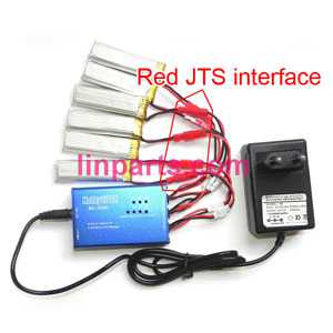 Charger + Balance charger box set(Red JTS Interface)